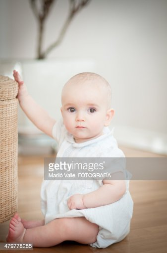 1 year old baby stock photo getty images. Black Bedroom Furniture Sets. Home Design Ideas