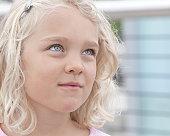 6 year old blue-eyed, blonde girl