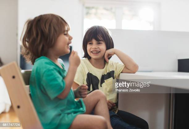 6 year old boy with his brother