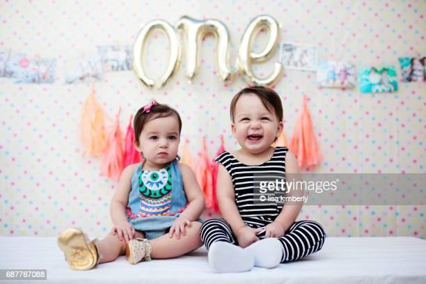 1 Year Old Boy/Girl Twins Birthday