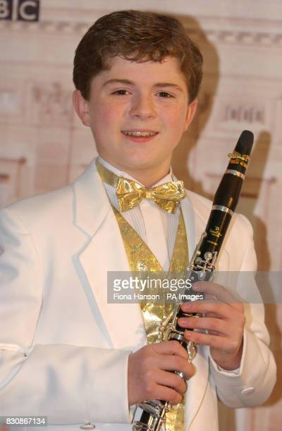 12 year old clarinet prodigy Julian Bliss backstage at The Queen's Golden Jubilee Prom at the Palace