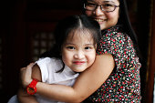 5 year old daughter with mom
