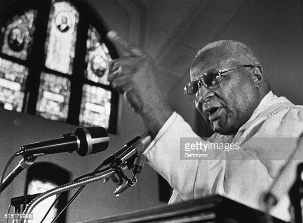 A 75 year old Dr Martin Luther King Sr gives an emotional sermon marking the end of his 44 year ministry in the small Ebenezer Baptist Church next to...