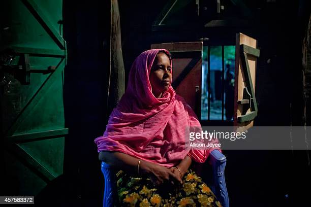 35 year old former Kandapara brothel sex worker Maya poses for a photo October 17 2014 in Tangail Bangladesh When she was very young her parents got...