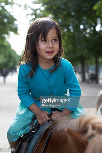 4 year old girl on a pony