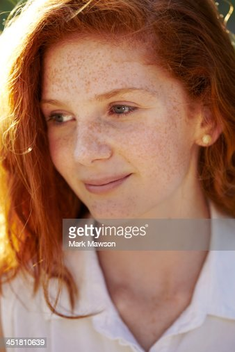14 Year Old Girl Stock Photo