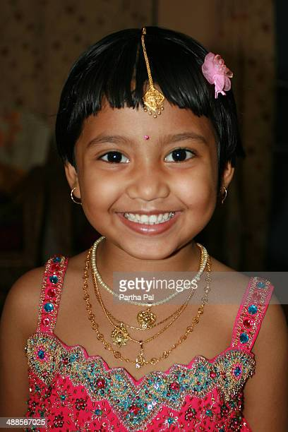 5 year old Indian Girl with Traditional Dress