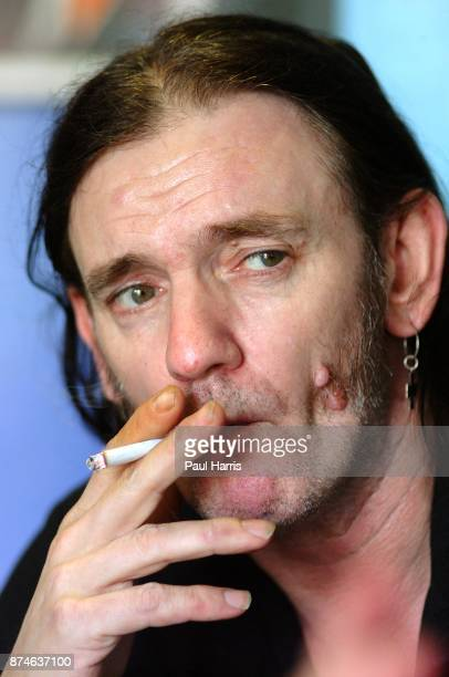 54 year old Lemmy Kilmister lead singer of English rock group Motorhead in a recording studio March 12 2001 in North Hollywood Los Angeles California...