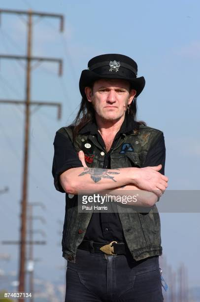 54 year old Lemmy Kilmister lead singer of English rock group Motorhead stands on the railway tracks on March 12 2001 in North Hollywood Los Angeles...