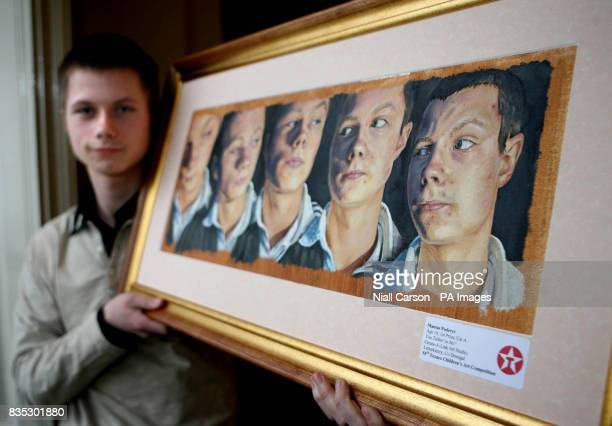 18 year old Mantas Poderys from Letterkenny who has won the 2000 Euro overall prize in the Texaco children's art competition which was announced at...