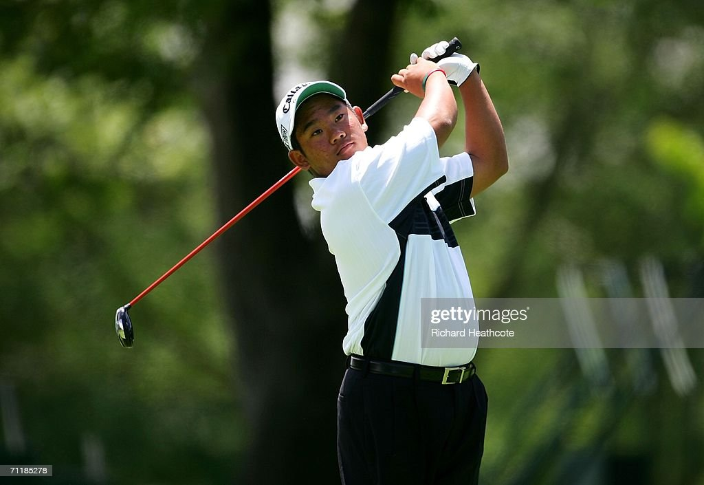 15 year old qualifier Tadd Fujikawa from Hawaii hits a tee shot during the Monday practice round for the 2006 US Open Championship at Winged Foot...