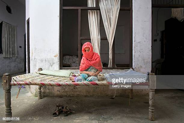 8 year old Sadaf poses for a photo on September 8 2016 in Uttar Pradesh India 3 months ago she was raped by a doctor in her village She was walking...