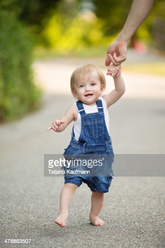 1 year old Toddler learning to walk