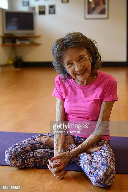 98 year old yoga instructor Tao PorchonLynch is photographed for New York Times on October 21 2016 in New York City