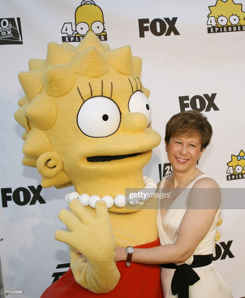 Yeardley Smith and Lisa Simpson during The Simpsons 400th Episode Block Party at The FOX Lot New York Street in Los Angeles California United States