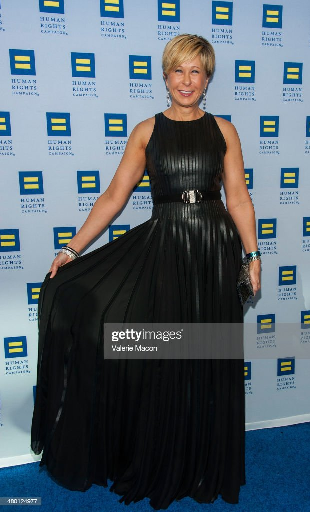 Yeardley Smith arrives at the Human Rights Campaign Los Angeles Gala Dinner at JW Marriott Los Angeles at LA LIVE on March 22 2014 in Los Angeles...
