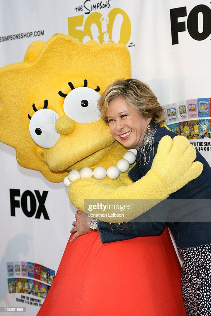 Yeardley Smith attends the 'The Simpsons' 500th Episode Ultimate Fan Marathon Challenge at Hollywood Highland Center on February 8 2012 in Hollywood...