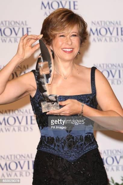 Yeardley Smith with the award for Best Animation for the Simpsons during The National Movie Awards at the Royal Festival Hall central London