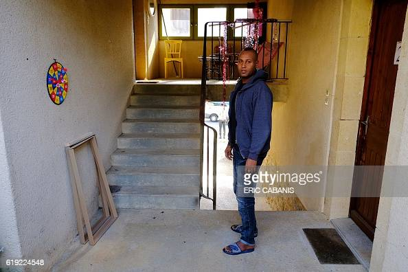 CAPTION 30 yearold Sudanese refugee Mohamed look on in the 'Centre dAccueil et dOrientation pour migrants' after his arrival in Bruniquel near...