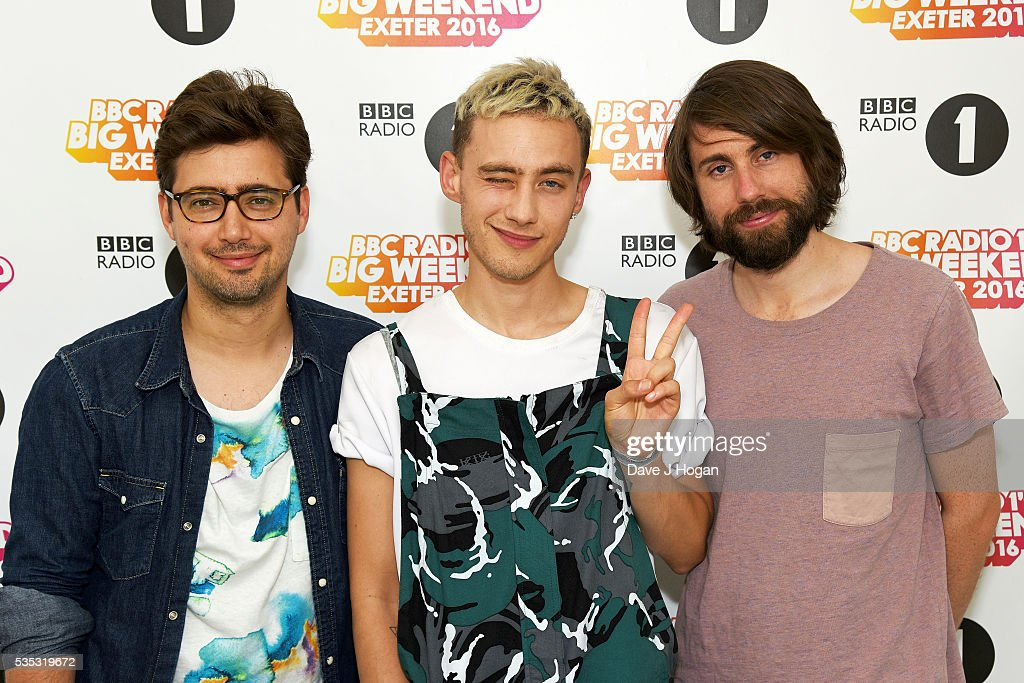 Years and Years pose for a photo during day 2 of BBC Radio 1's Big Weekend at Powderham Castle on May 29, 2016 in Exeter, England.