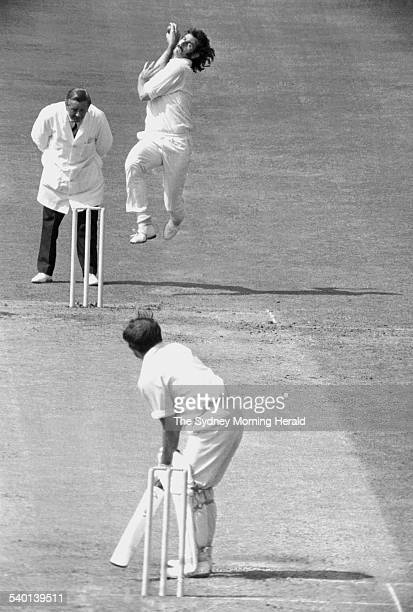 100 Years of Australian Cricket Australian bowler Dennis Lillee in action against Engish batsman John Edrich in the Third Test during the 1972 tour...