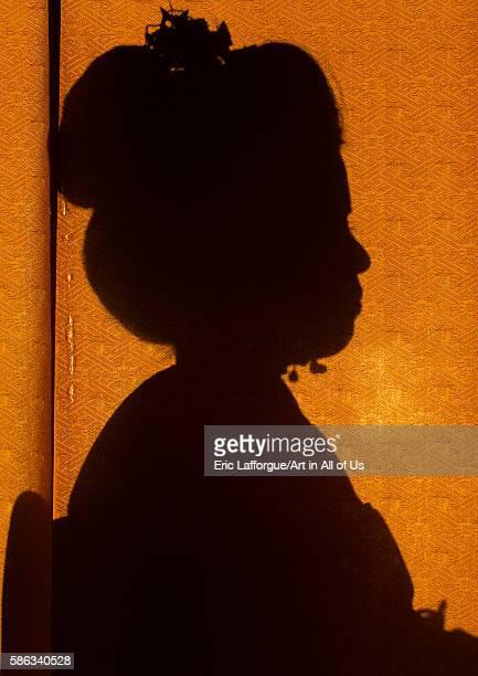16 years old maiko called chikasaya silhouette kansai region kyoto Japan on May 27 2016 in Kyoto Japan