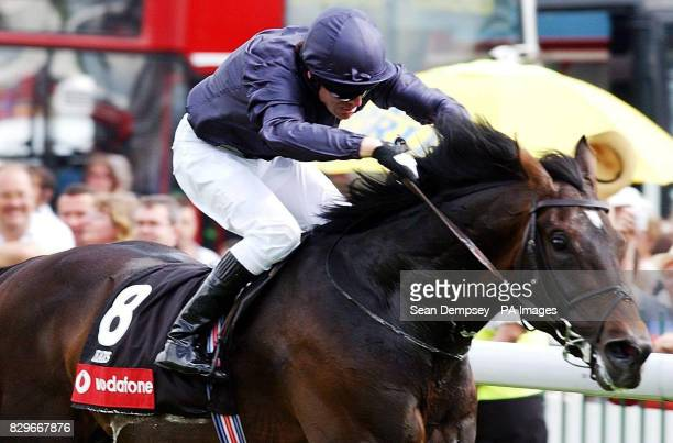 Yeats ridden by jockey Kieren Fallon wins the Vodafone Coronation Cup