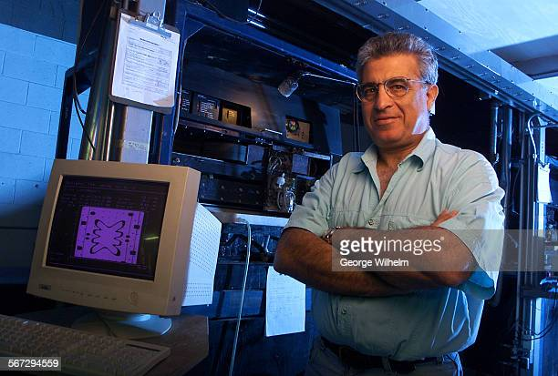 9/8/2000 – Yehoram Uziel president and CEO of Soligen Technologies in Northridge next to a machine Soligen has for producing parts directly from...