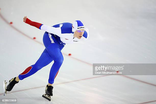Yekaterina Lobysheva of Russia competes in the 1500m Ladies race on Day Two of the Speed Skating ISU World Cup on December 10 2016 in Heerenveen...