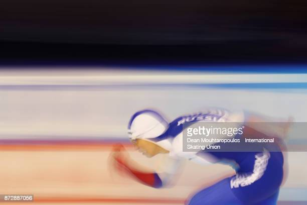 Yekaterina Shikhova of Russia competes in the Womens 1500m race on day two during the ISU World Cup Speed Skating held at Thialf on November 11 2017...