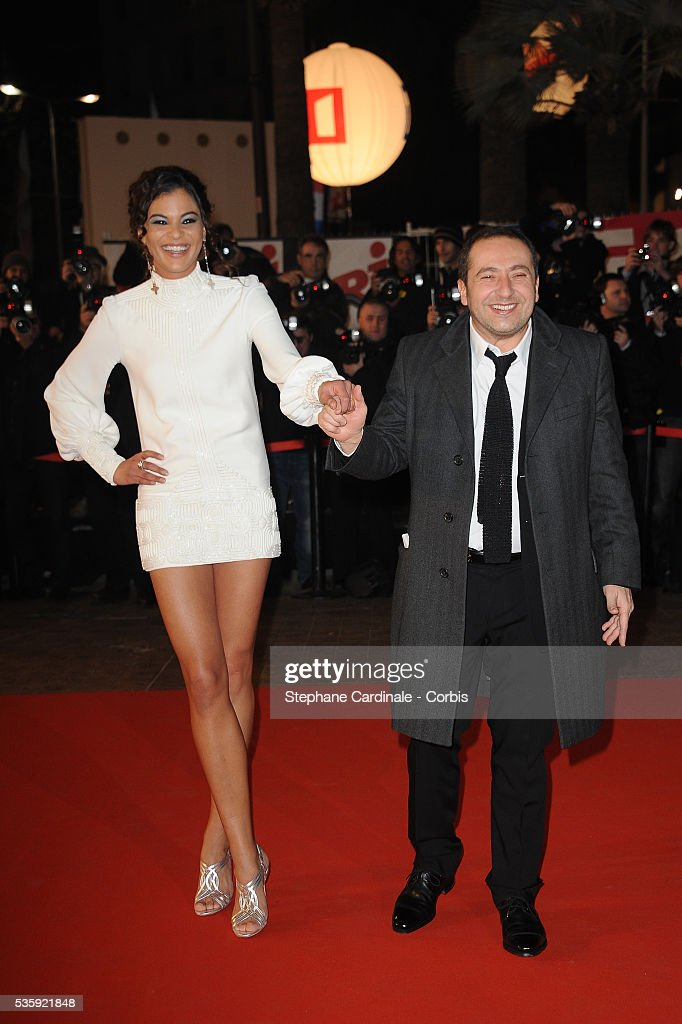 Yelena Noah and Patrick Timsit attend the NRJ Music Awards 2011 at the 'Palais des Festivals et des Congres' in Cannes.