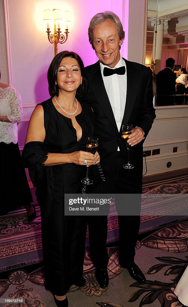 Yelena Oosting (L) and Vertu CEO Perry Oosting attend a gala evening celebrating Old Russian New Year's Eve in aid of the Gift Of Life Foundation at The Savoy Hotel on January 13, 2013 in London, England.