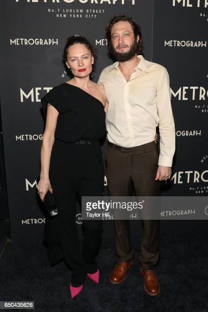 Yelena Yemchuk and Ebon MossBachrach attend the Metrograph 1st Year Anniversary Party at Metrograph on March 8 2017 in New York City