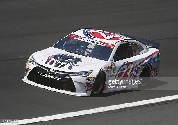 Yeley driver of the Hope for the Warriors Toyota practices for the NASCAR Sprint Cup Series CocaCola 600 at Charlotte Motor Speedway on May 21 2015...