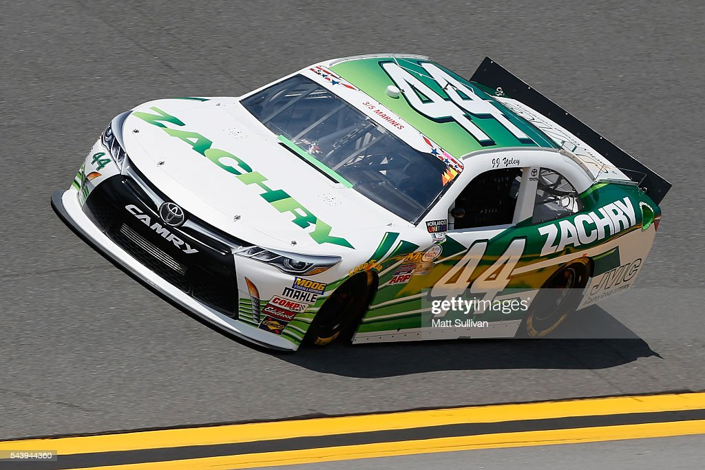 JJ Yeley, driver of the #44 Zachry Toyota, practices for the NASCAR XFINITY Series Subway Firecracker 250 at Daytona International Speedway on June 30, 2016 in Daytona Beach, Florida.