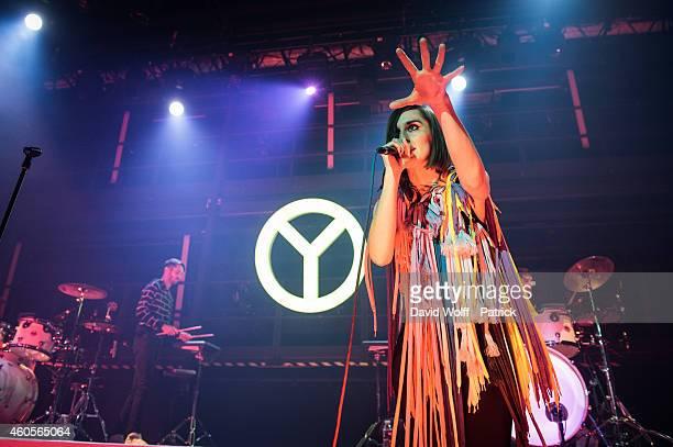 Yelle performs at La Gaite Lyrique on December 16 2014 in Paris France
