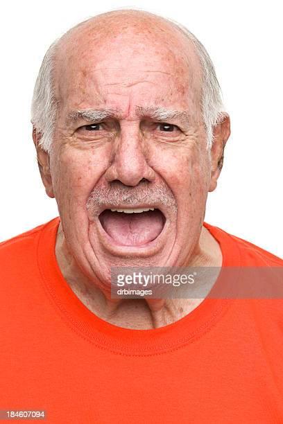 Yelling Senior Man