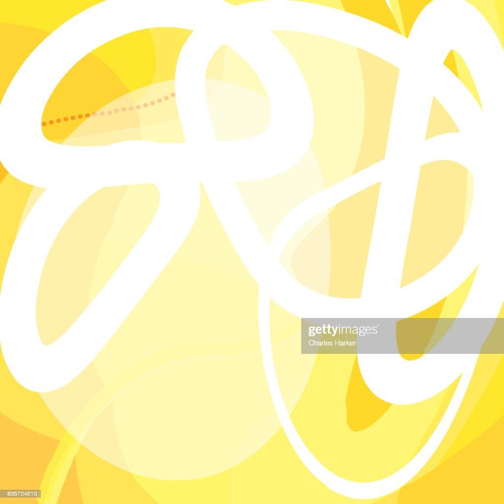 Yellow Abstract Vector Illustration : Stock Photo