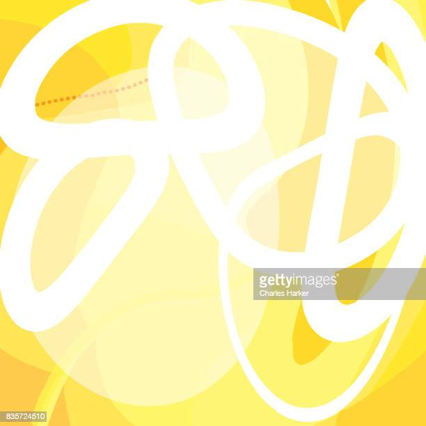 Yellow Abstract Vector Illustration