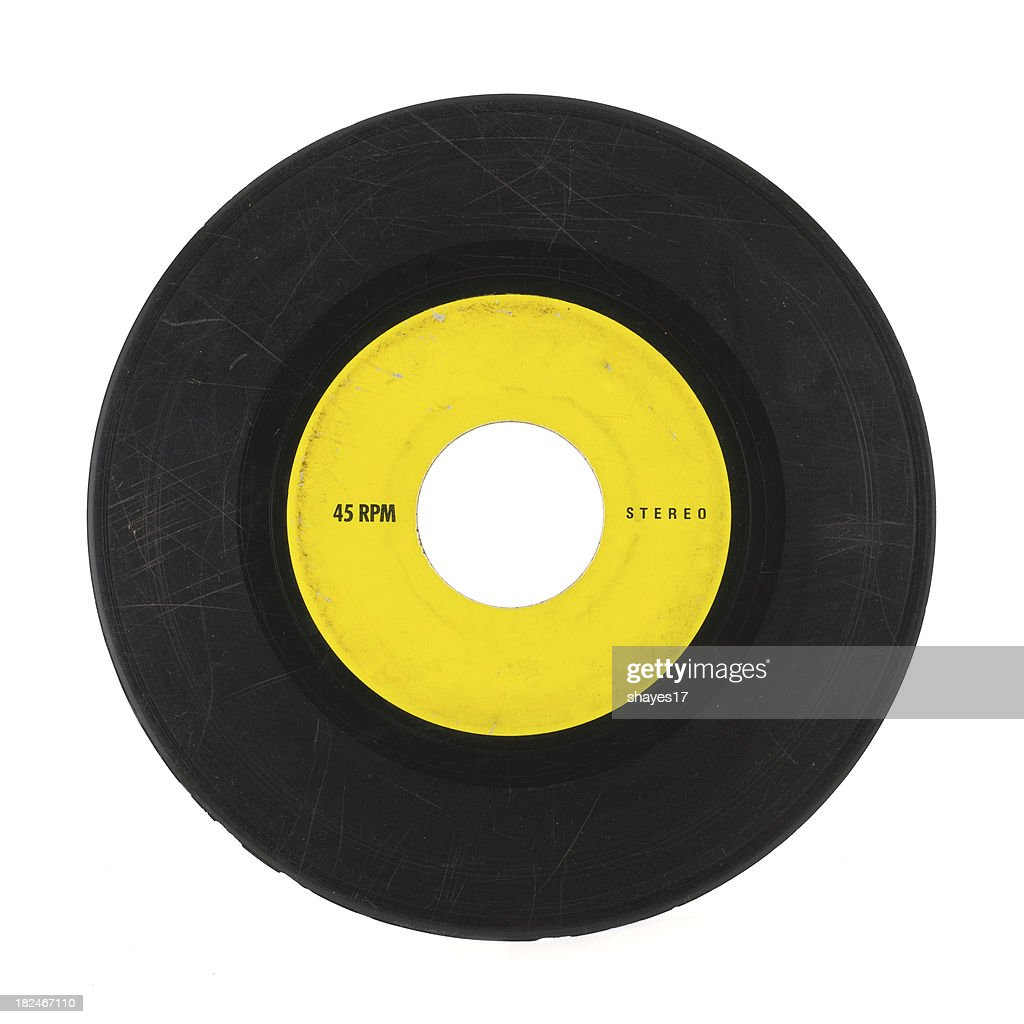 Scratched 45 record