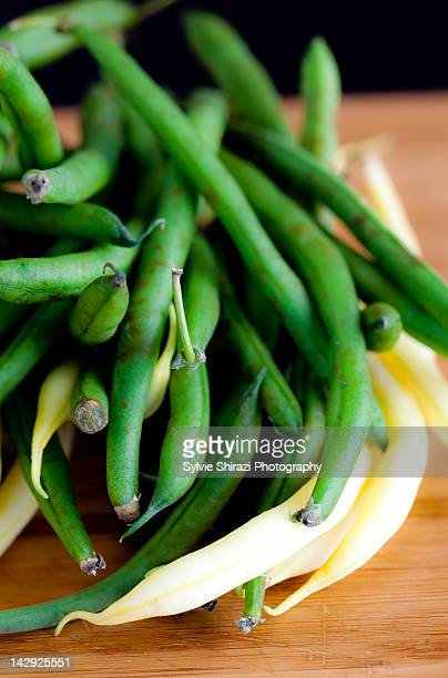 Yellow and green string beans