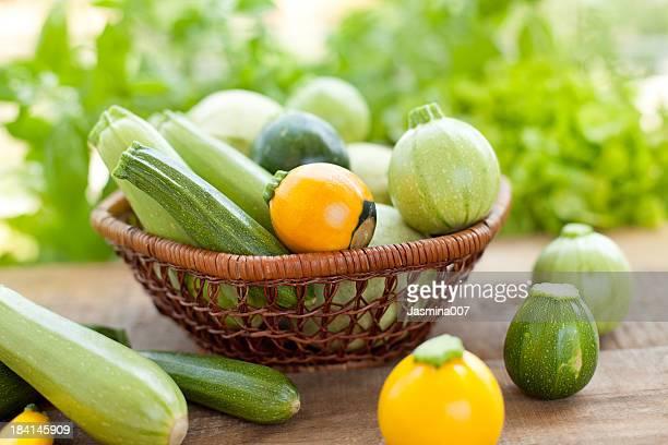 Zucchino giallo e verde