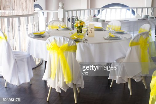 Yellow And White Wedding Decoration Ideas: Summer wedding table d ...