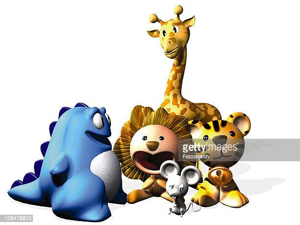 yellow, animal, giraffe, 3D, mouse, tiger, cute