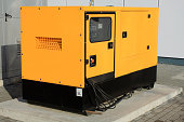 Yellow Auxiliary Diesel Generator for Emergency Electric Power