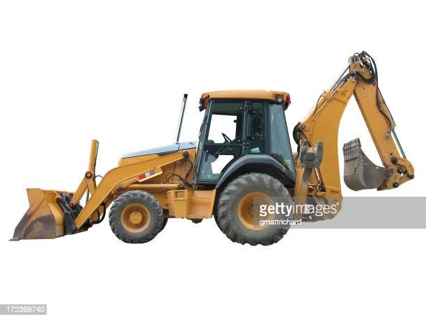 Yellow Backhoe