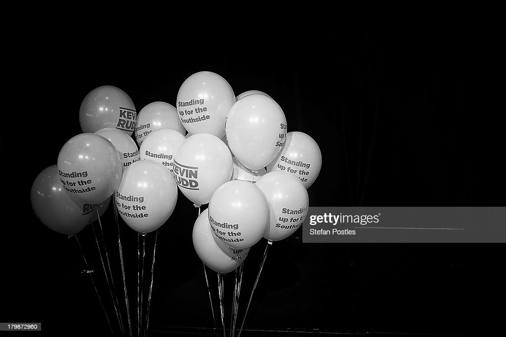 Yellow balloons decorate the Legends room at The Gabba for the Labor Partys election night event on September 7, 2013 in Brisbane, Australia. Australian voters will head to the polls on September 7 to elect the 44th parliament.