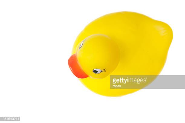Yellow bath duck seen from above