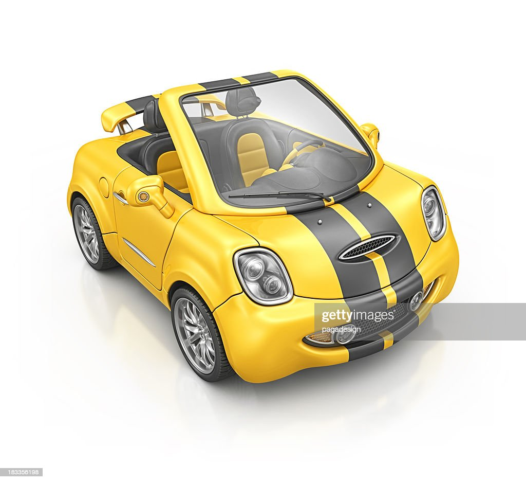 yellow bee roadster : Stock Photo