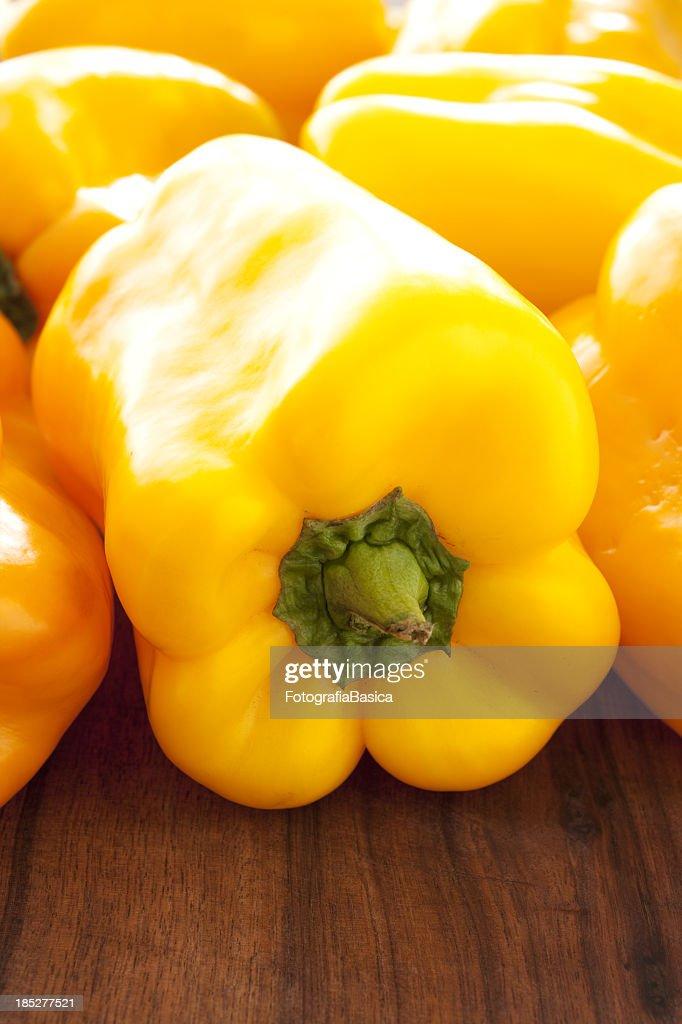 Yellow bell pepper closeup